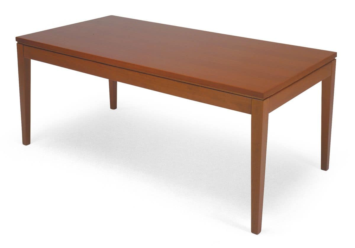 TA07, Beech table with valuable workings