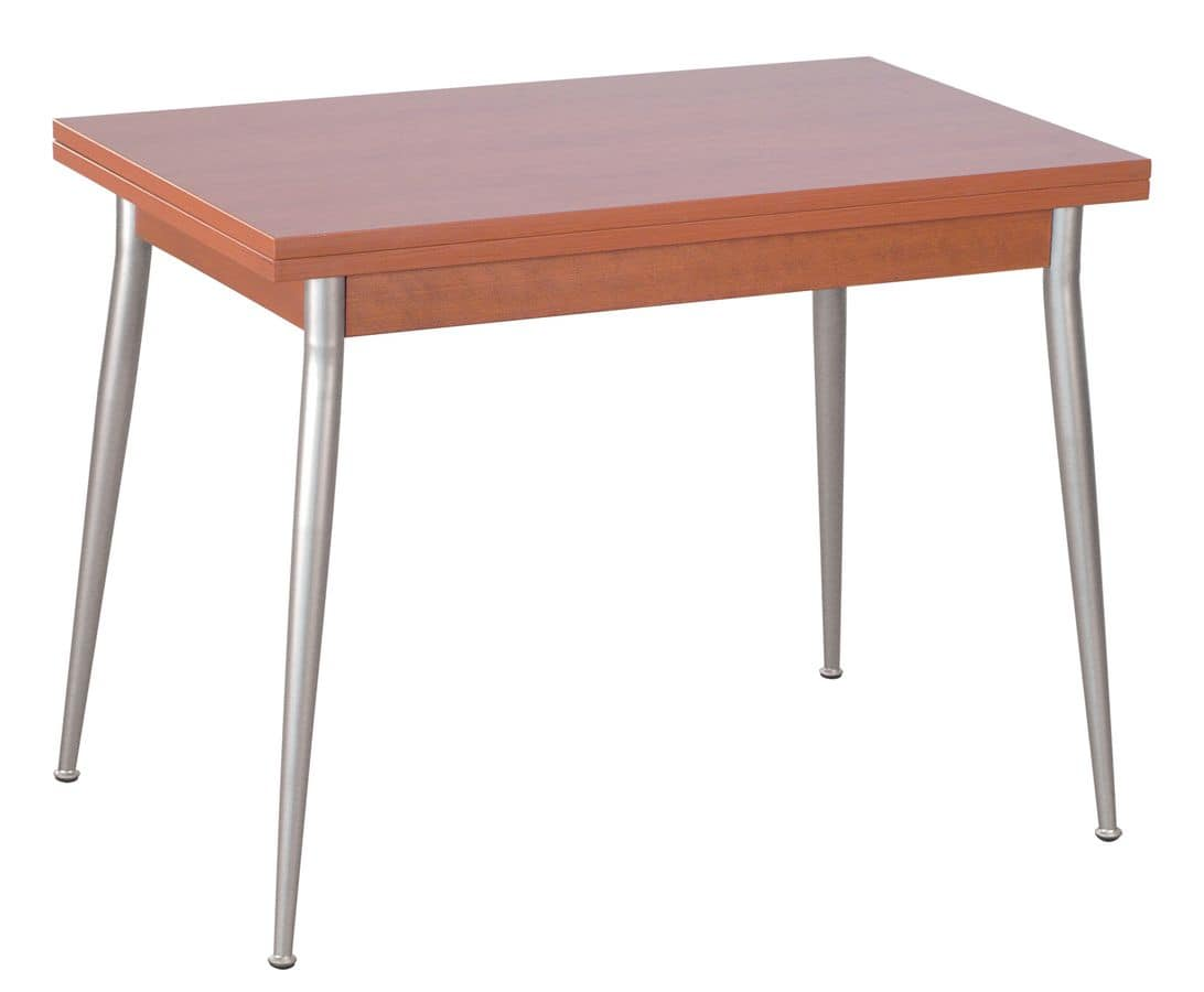 TV10, Folding table with iron legs, top in melamine
