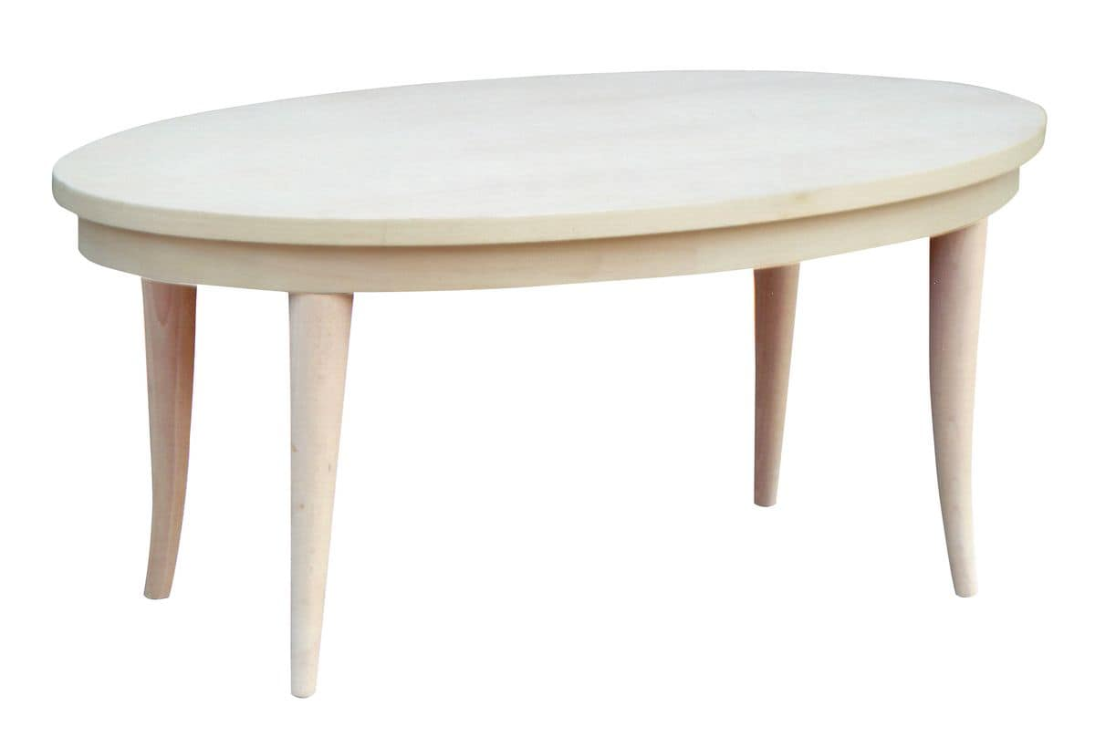 TA19, Classic oval table in beech, veneered top