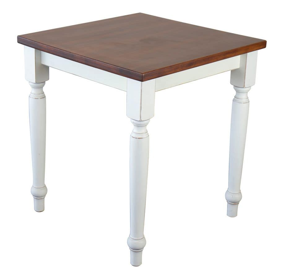 TA41, Square table in solid beech, for rustic environments