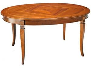 TA25, Extendable oval table, in beech wood and laminate