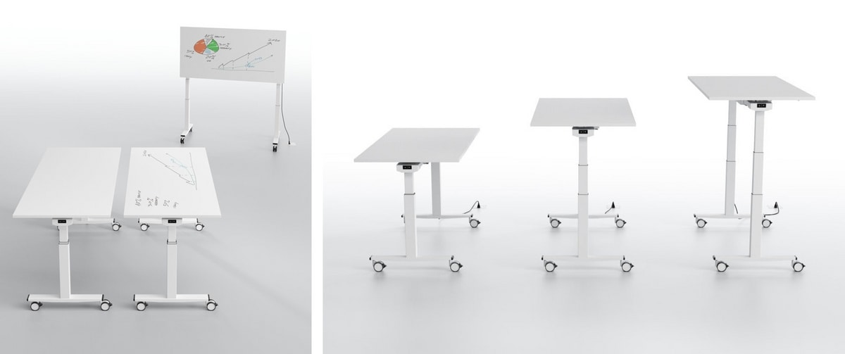 Telemaco, Height-adjustable table for schools and laboratories
