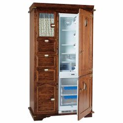 Art. 427, Rustic pantry cabinet, with fridge