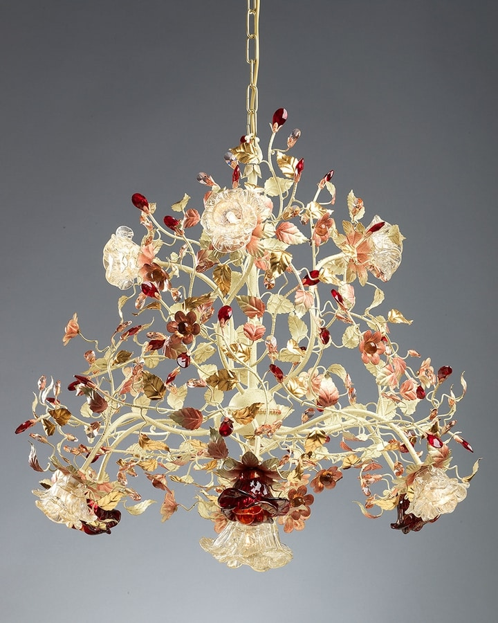 990110, Murano glass chandelier