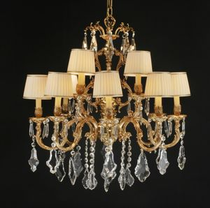 Art. 252 cp, Large chandelier with crystal pendants