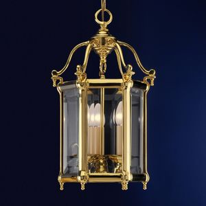 Art. 745/3, Brass lantern with removable glasses