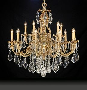 Art. 9200, Chandelier with crystal pendants