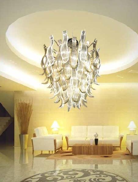 Eden chandelier, Handcrafted chandelier made of glass