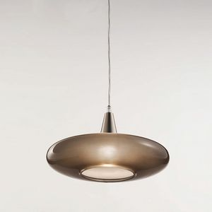 Forme Ls620-010, Lamp in satin taupe glass