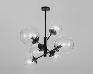 GLOBAL Ø 80/ Ø 50, Chandelier with acrylic spheres