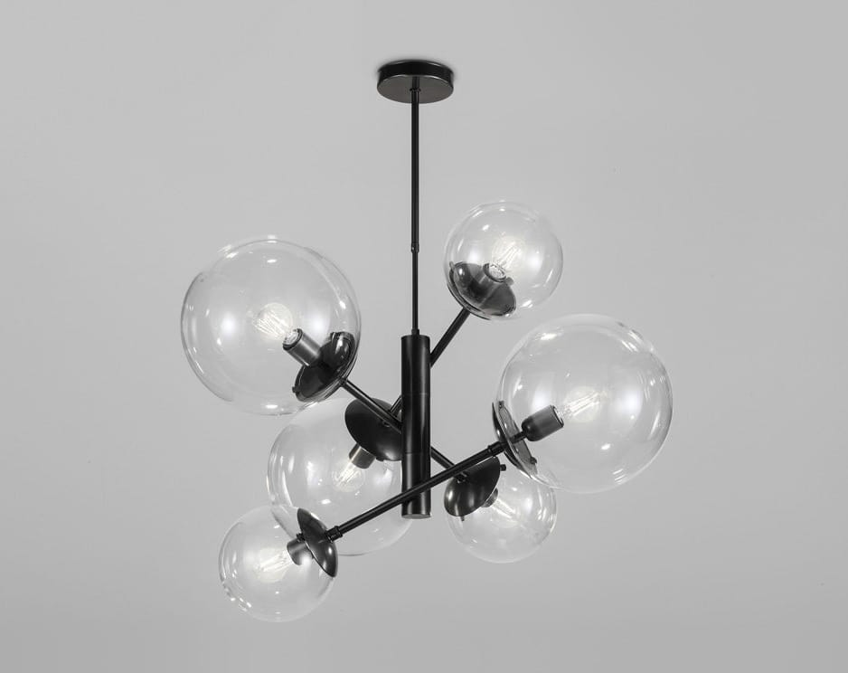 GLOBAL Ø 80/ Ø 50, Chandelier with acrylic spheres