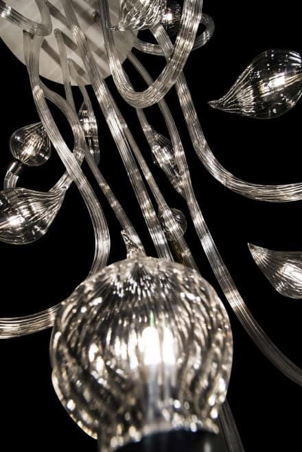Polaris chandelier, Blown glass chandelier