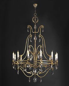 REMIGIUS HL1103CH-12, Iron chandelier with crystal details