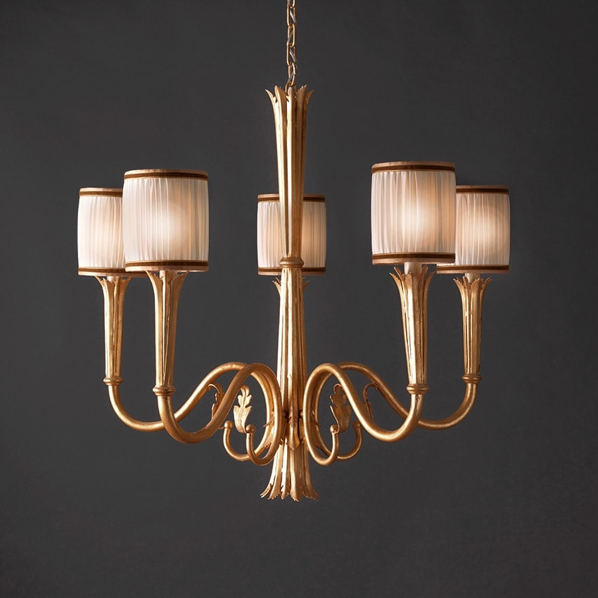 RIALTO HL1059CH-5, Lampdario with gold finishes