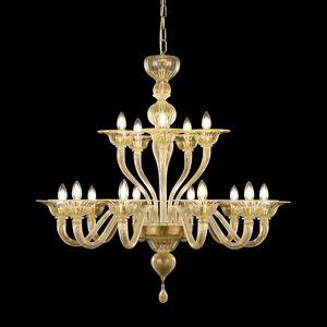 Simplicissimus 360 LE0360-10+5-K, Murano glass chandelier, different colors