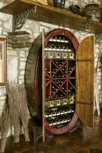 Art. 608, Storage cabinet for bottles, barrel-shaped