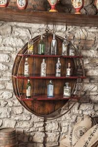 Art. 628, Wall-hung cabinet, bottle holder, for bars and restaurants
