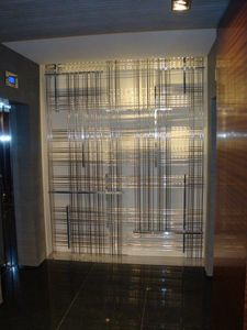 Bespoke room dividers in brass, Decorative metal partition wall