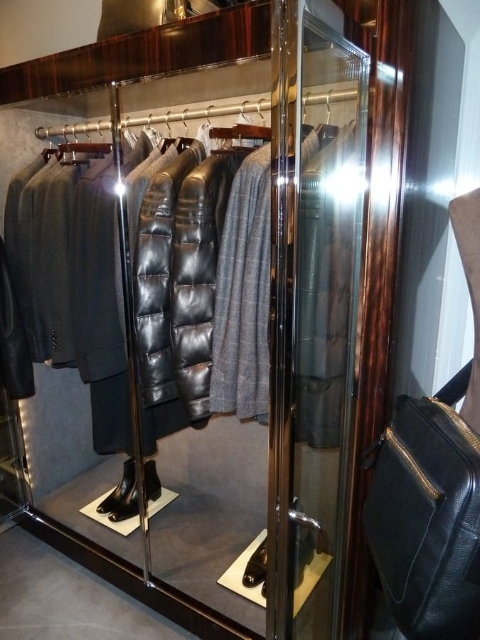Clothes rail in metal, Exhibition furniture with hangers for shops