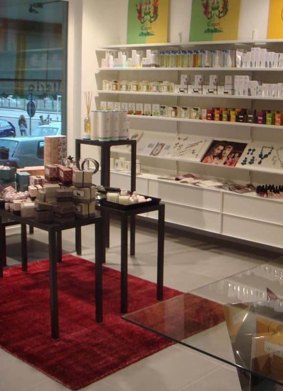 Furniture for perfumery, Shelving and custom furnishings, for perfumery or shop