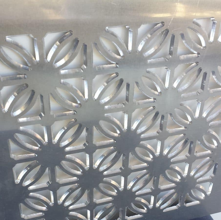 Tailored decorative panel in aluminium with bespoke design, Decorative metal panels for showroom and residential.