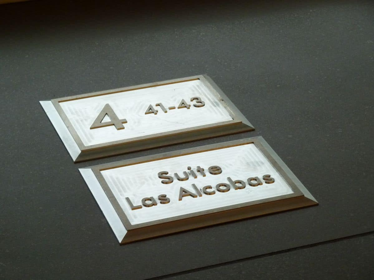 Metal signs, Plaques and signs suited for each activity