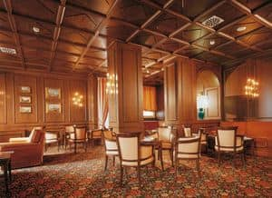 Regency Hotel Hall, Customized furniture for hotel, wood paneling