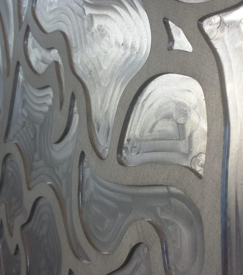 Tailored decorative panel in aluminium realized with 3D milling, Decorative panels with 3D milling