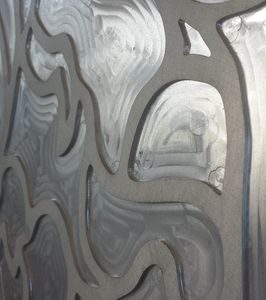 Tailored decorative panel in aluminium realized with 3D milling, Decorative panels with 3D milling