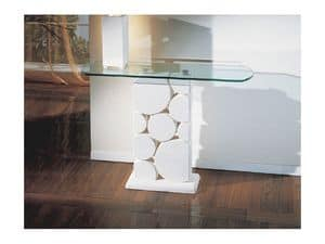 Sfera, Table with carved white stone column