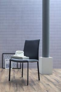 NAVARRA, Upholstered chair, available in leather or imitation leather