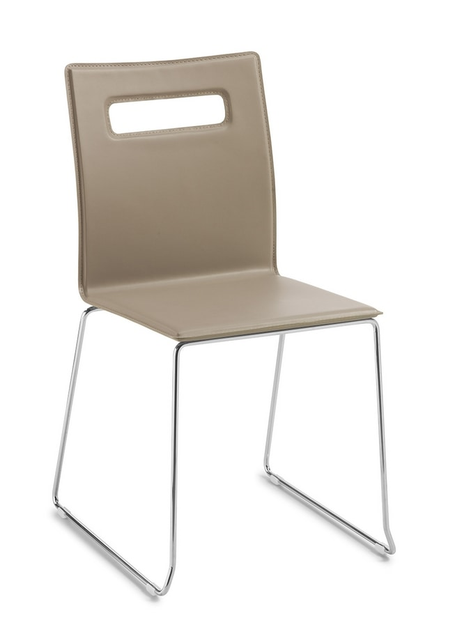Nuvola, Stackable chair with sled base