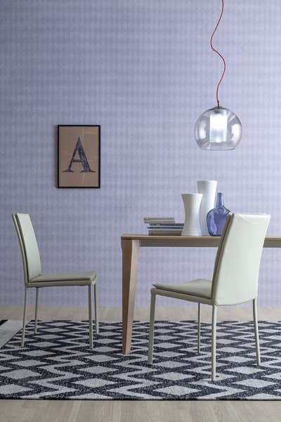 SCARLET, Design upholstered chair without armrests