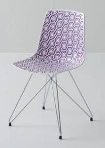 Alhambra TC, Metal chair, polymer sitting, for contract use