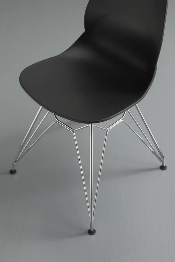 Art. 011 Eiffel, Design chair made of polypropylene with rod base