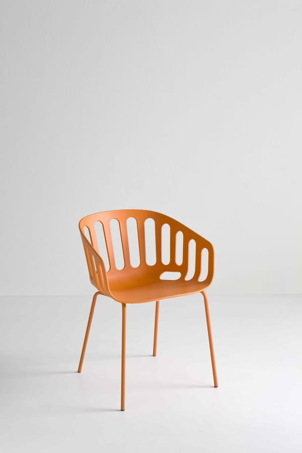 Basket Chair NA, Chair with metal base, techno polymer seat