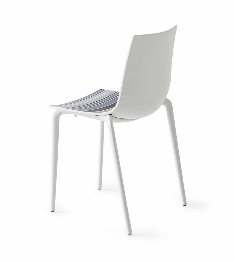 Colorfive TP, Polymer chair, metal legs, various finishes