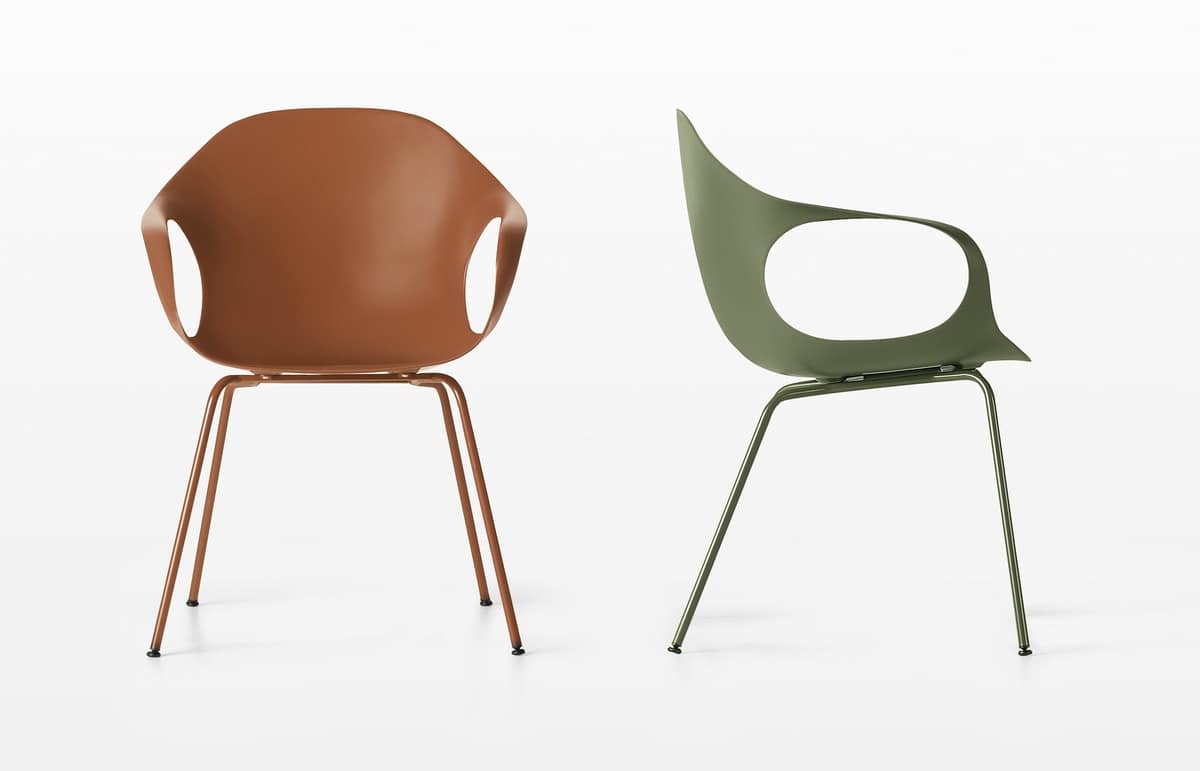 Elephant Four Legs, Comfortable chair in polyurethane and steel legs