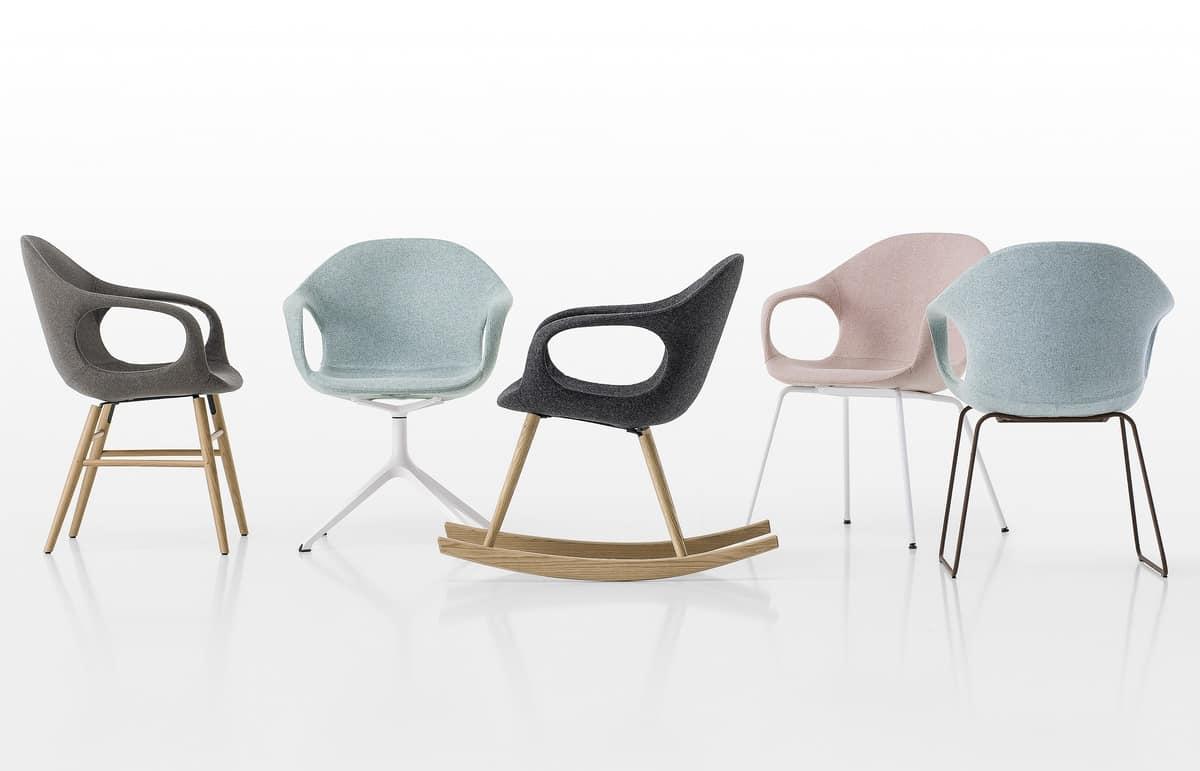 Elephant Slide Base, Sled chair with polyurethane shell and steel rod base