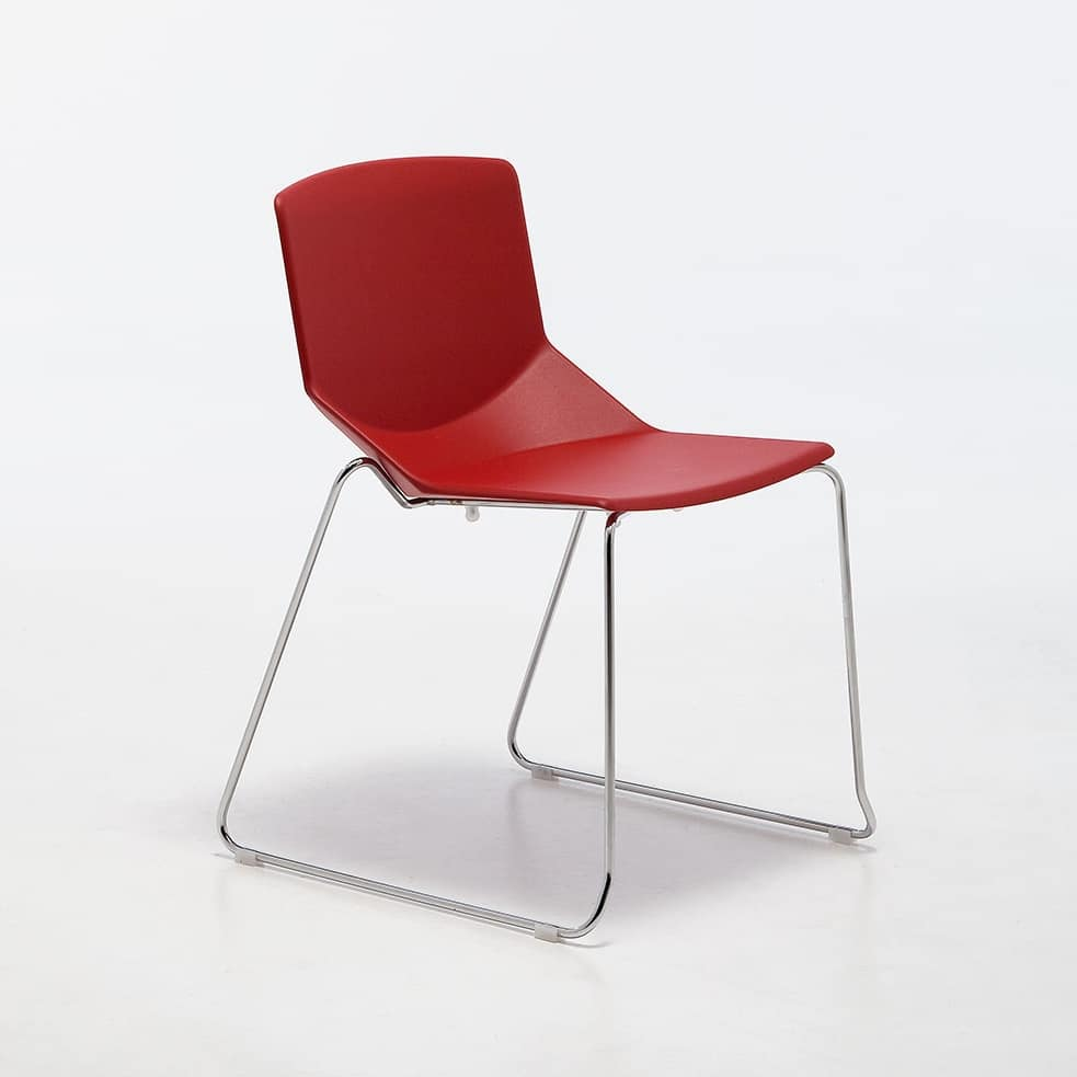 Formula tech SL, Chair with sled base, stackable