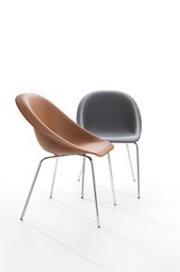 Hoop, Chair in metal and fire-retardant polyurethane, also for outdoor use