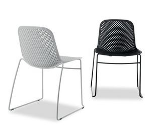 I.S.I. Chair, Stackable chair with plastic shell
