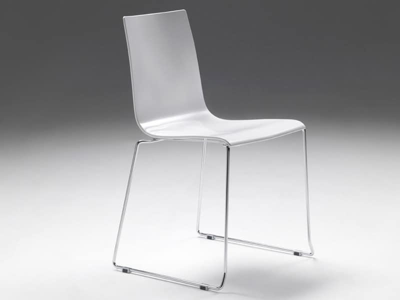 Jolly 2, Chair made of polymer without armrests