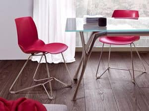 Kaleidos 3, Chair in Metal and recyclable polymer, for Office