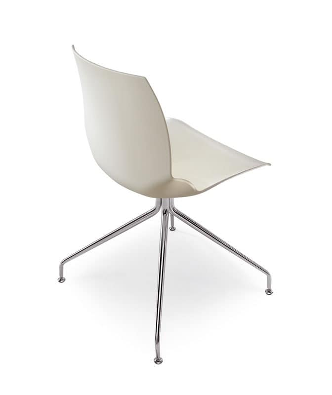 Kaleidos 6, Modern steel chair with particular body finish