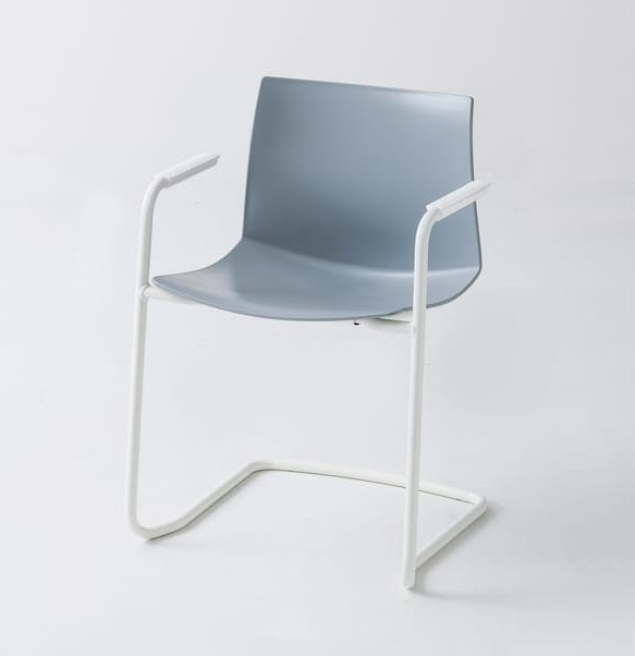 Kanvas 2 CTLS, Chromed chair with armrests