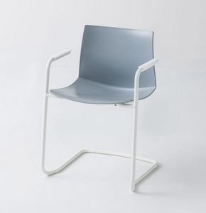 Kanvas 2 CTLS, Chromed chair with armrests