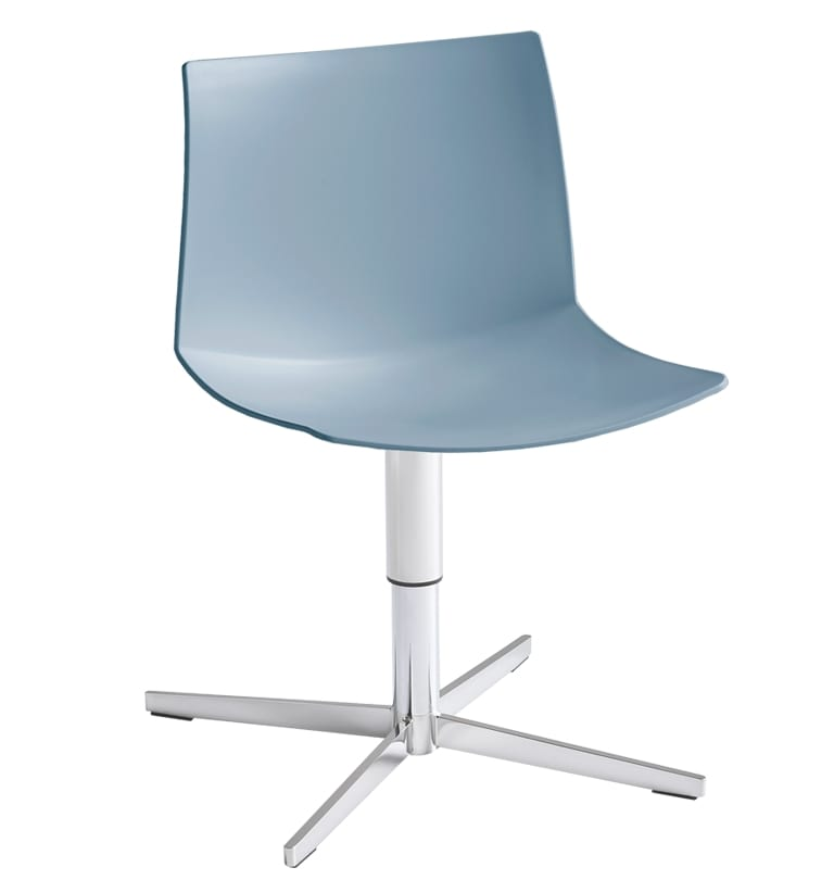 Kanvas 2 L, Chromed chair with 4-blade base