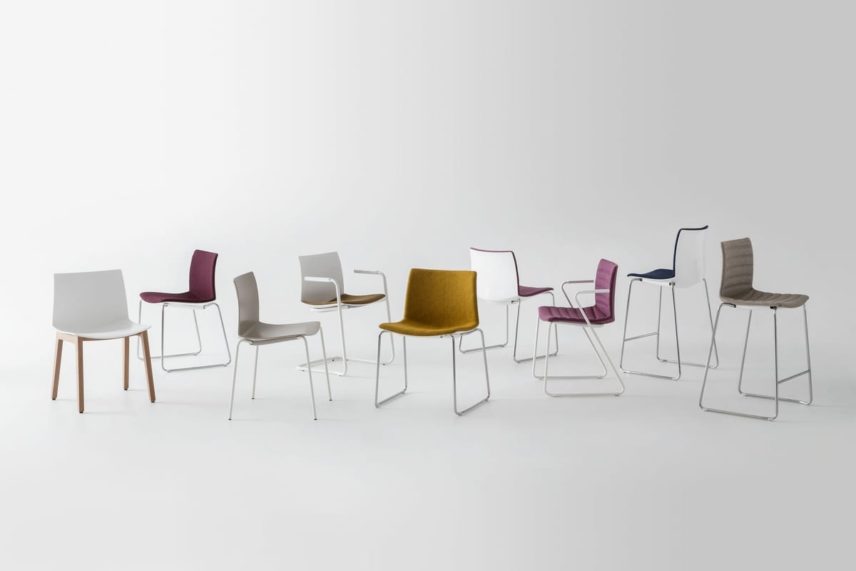 Kanvas 2 ST, White chair with sled base