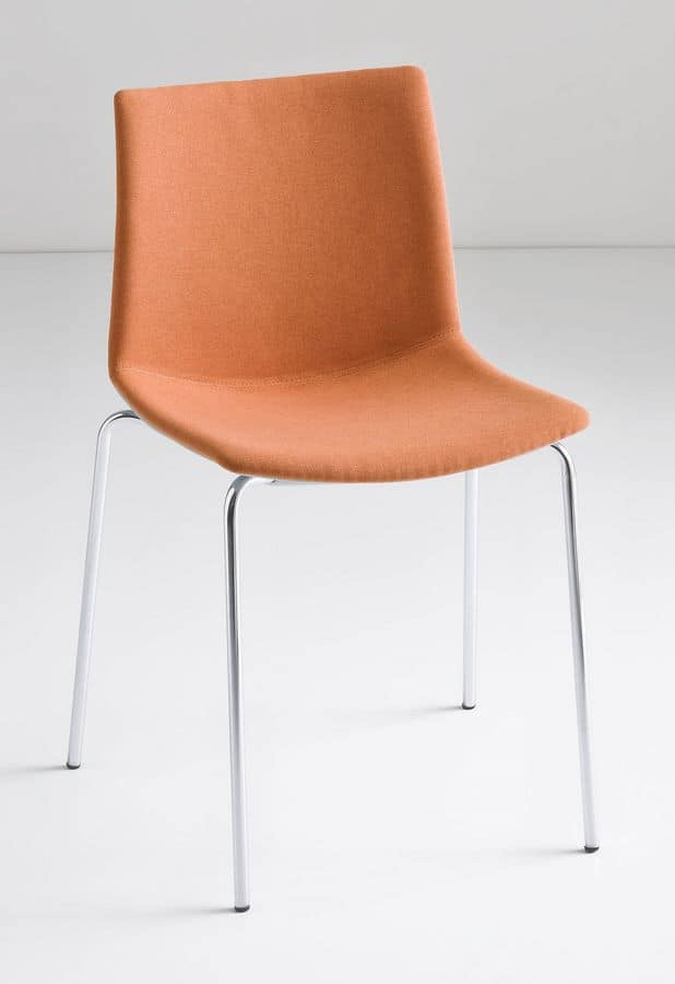 Kanvas NA, Design chair with metal legs, for contract use